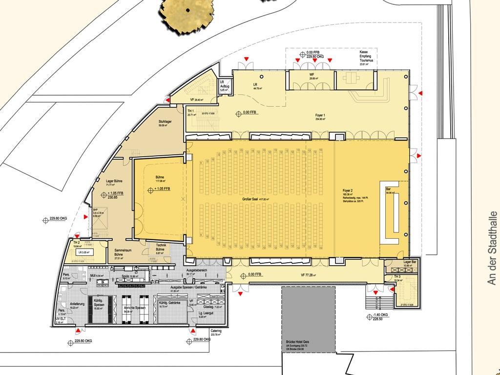 neubau stadthalle bad neustadt a d saale. Black Bedroom Furniture Sets. Home Design Ideas