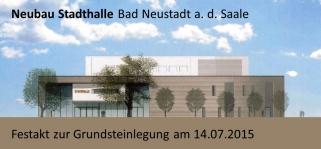 NES STadthalle Grundsteinlegung 14.7.15